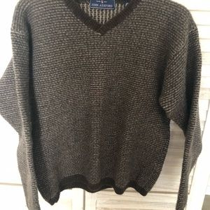 John Ashford 100% Wool Brown Sweater Size XL